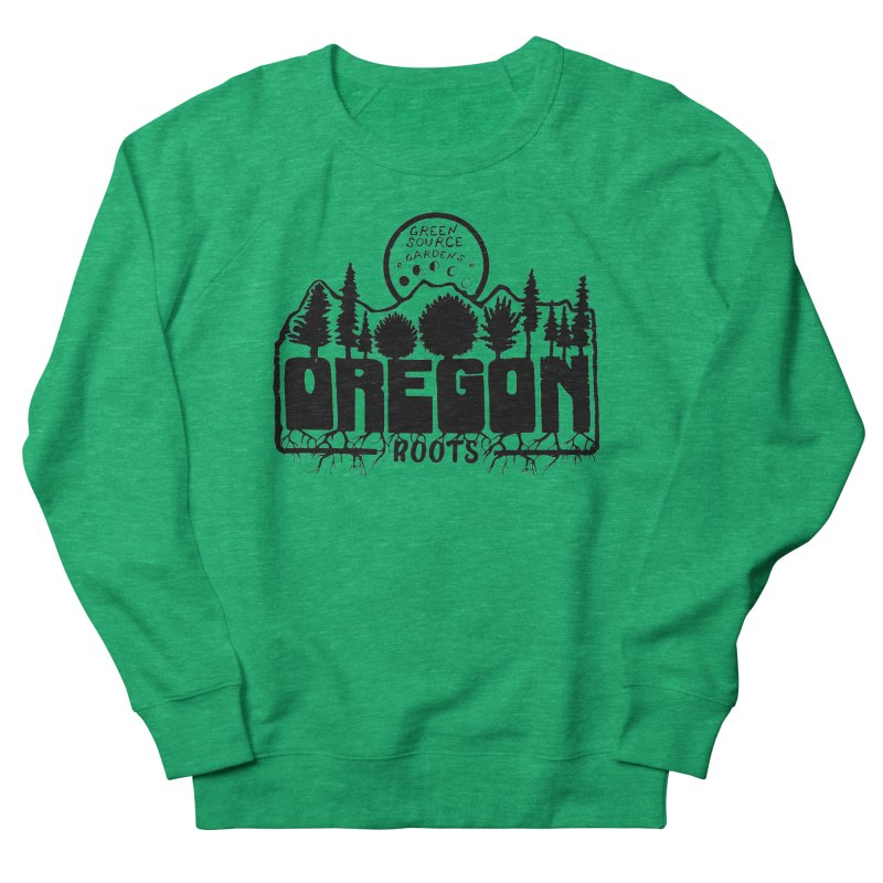 OREGON ROOTS in Black Women's Sweatshirt by Green Source Gardens