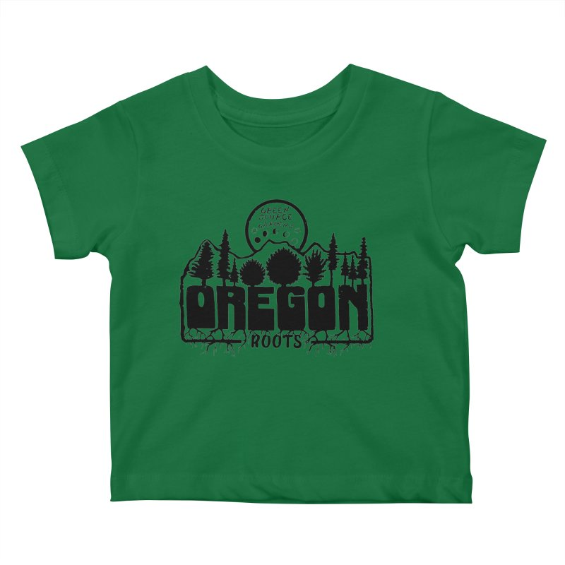 OREGON ROOTS in Black Kids Baby T-Shirt by Green Source Gardens