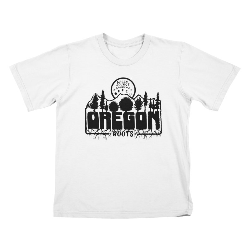 OREGON ROOTS in Black Kids T-Shirt by Green Source Gardens