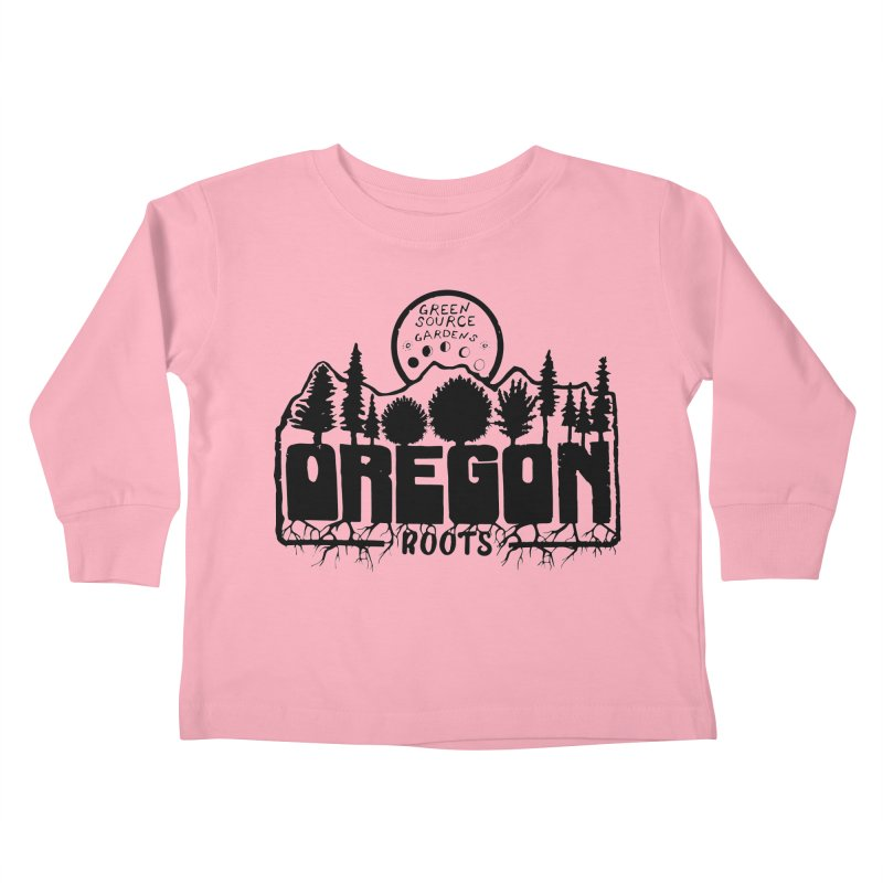 OREGON ROOTS in Black Kids Toddler Longsleeve T-Shirt by Green Source Gardens