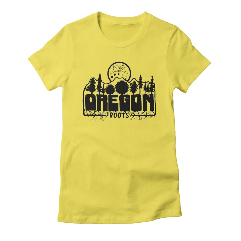 OREGON ROOTS in Black Women's T-Shirt by Green Source Gardens