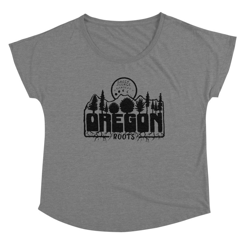 OREGON ROOTS in Black Women's Scoop Neck by Green Source Gardens