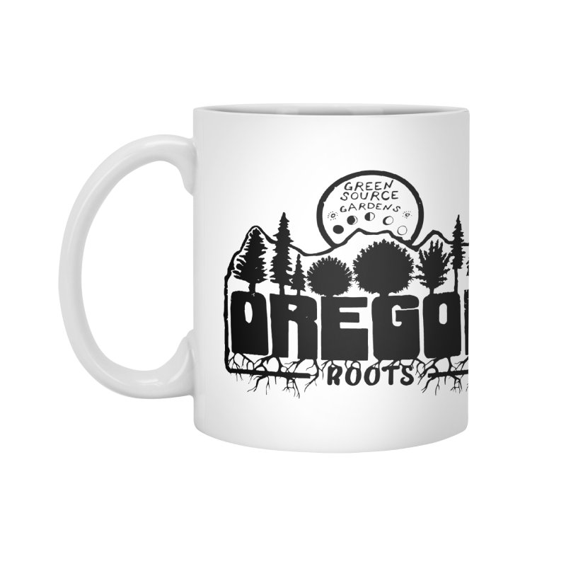 OREGON ROOTS in Black Accessories Mug by Green Source Gardens