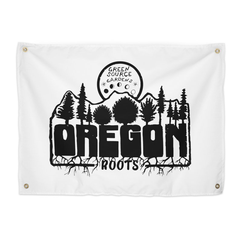OREGON ROOTS in Black Home Tapestry by Green Source Gardens