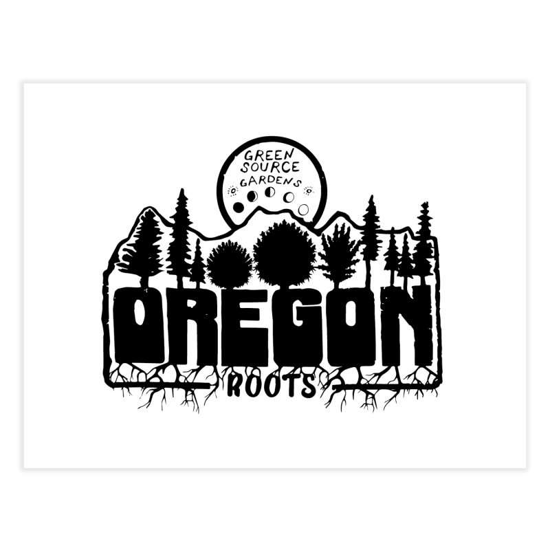 OREGON ROOTS in Black Home Fine Art Print by Green Source Gardens