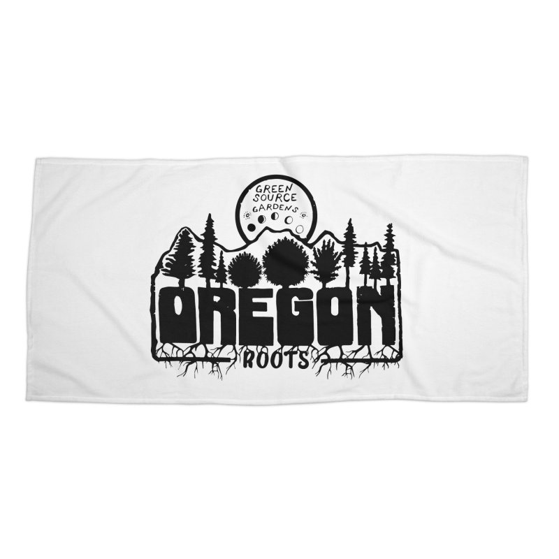 OREGON ROOTS in Black Accessories Beach Towel by Green Source Gardens