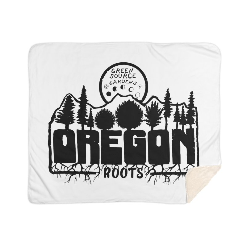 OREGON ROOTS in Black Home Blanket by Green Source Gardens