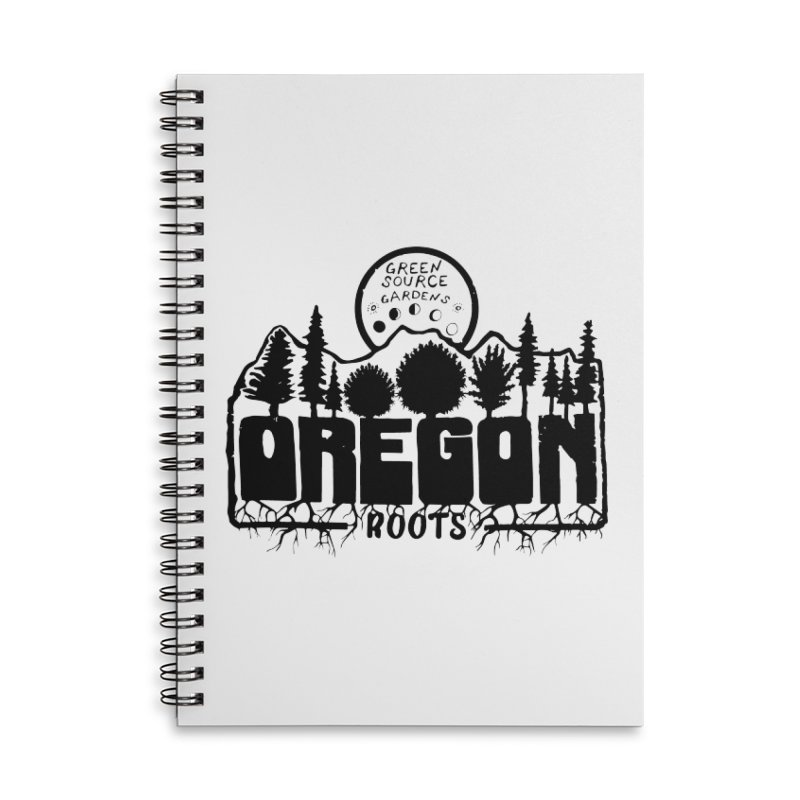 OREGON ROOTS in Black Accessories Notebook by Green Source Gardens