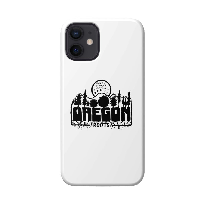 OREGON ROOTS in Black Accessories Phone Case by Green Source Gardens
