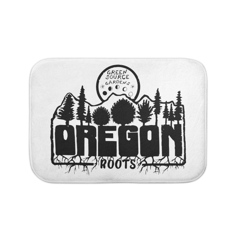 OREGON ROOTS in Black Home Bath Mat by Green Source Gardens