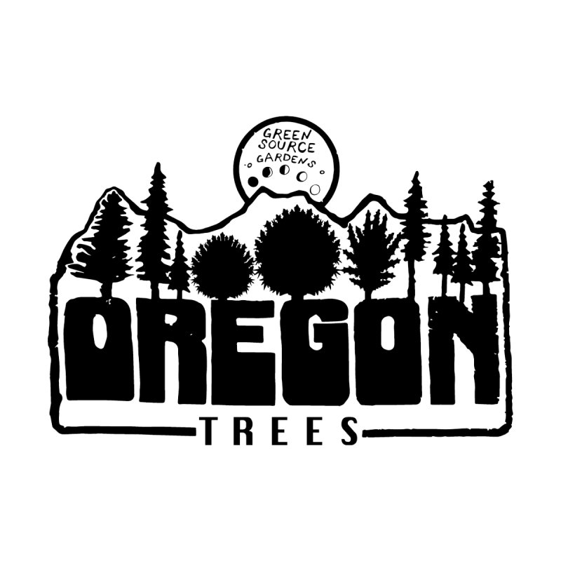 OREGON TREES TEE Accessories Notebook by Green Source Gardens