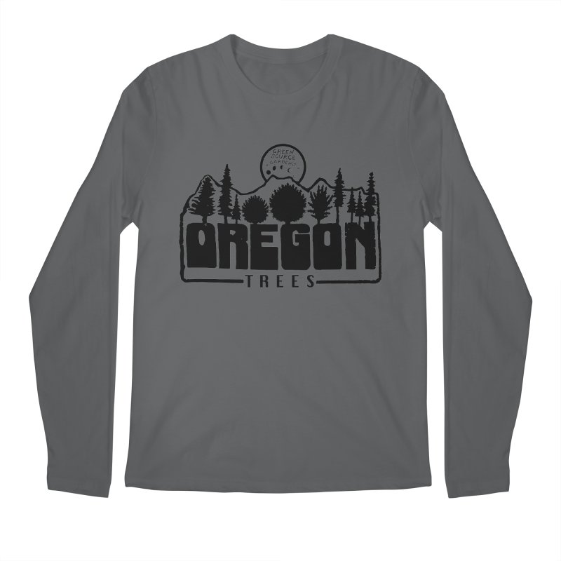 OREGON TREES TEE Men's Longsleeve T-Shirt by Green Source Gardens