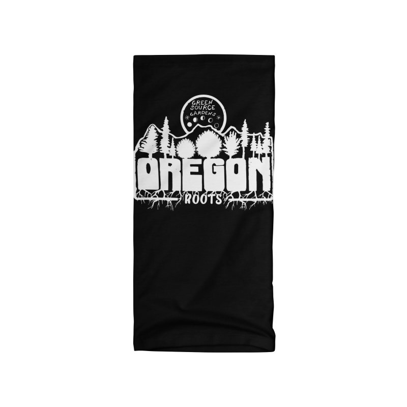 OREGON ROOTS in White Accessories Neck Gaiter by Green Source Gardens