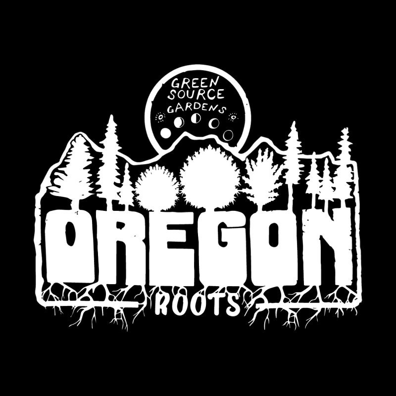 OREGON ROOTS in White Men's Pullover Hoody by Green Source Gardens