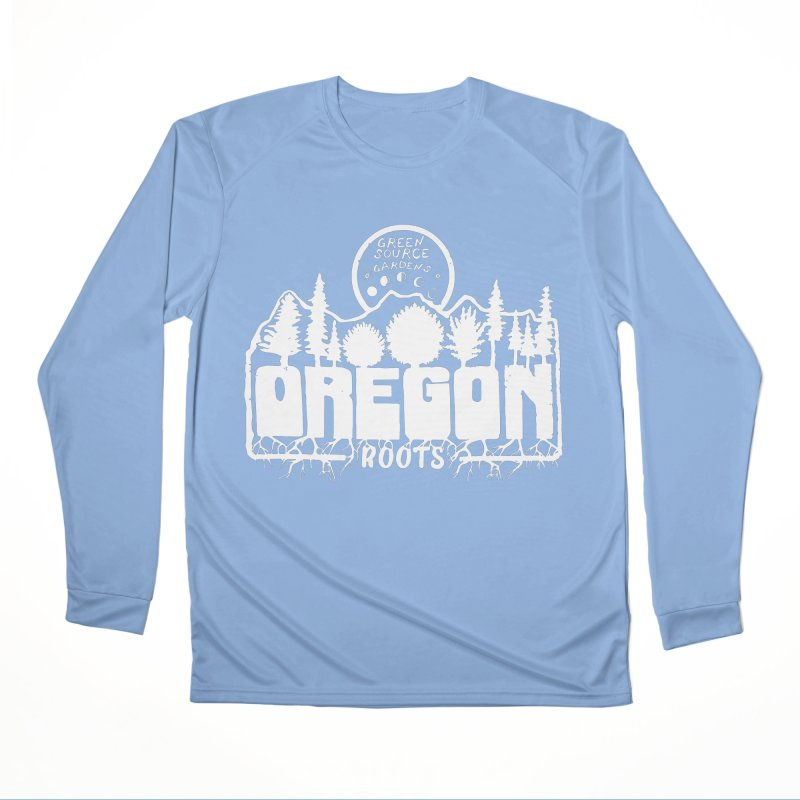 OREGON ROOTS in White Women's Longsleeve T-Shirt by Green Source Gardens