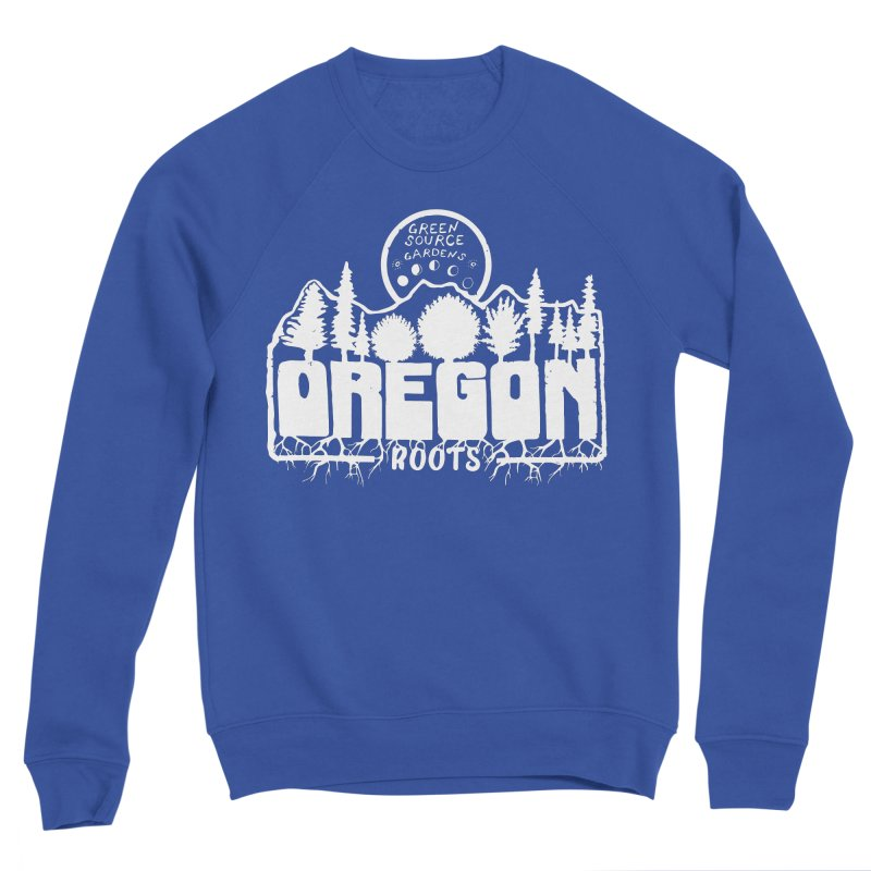 OREGON ROOTS in White Men's Sweatshirt by Green Source Gardens