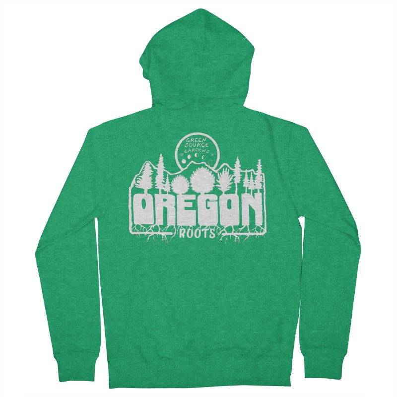 OREGON ROOTS in White Men's Zip-Up Hoody by Green Source Gardens