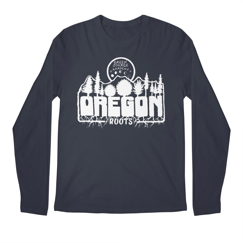 OREGON ROOTS in White Men's Longsleeve T-Shirt by Green Source Gardens