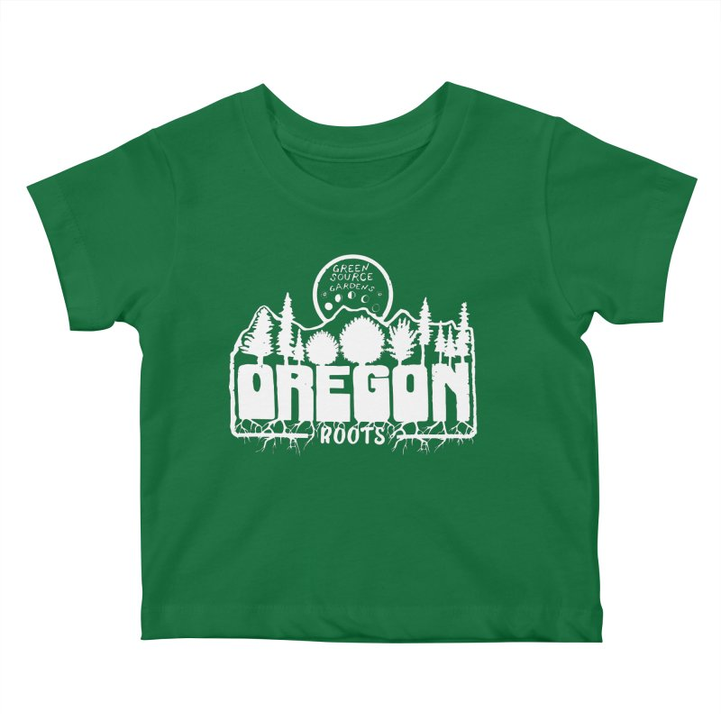 OREGON ROOTS in White Kids Baby T-Shirt by Green Source Gardens