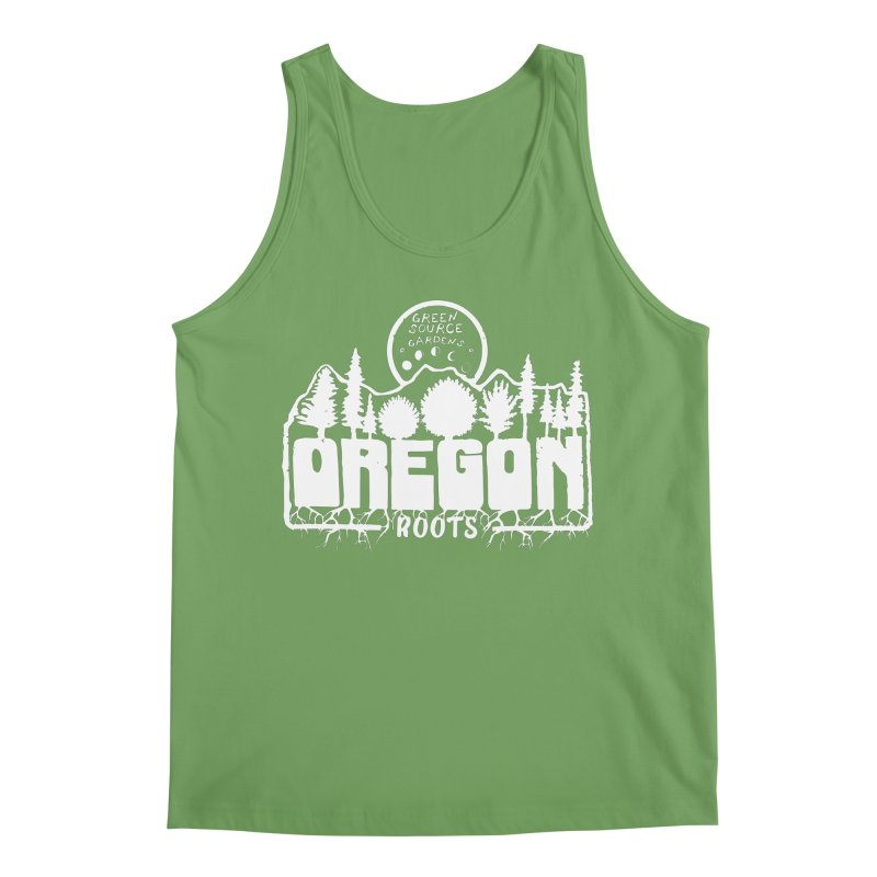 OREGON ROOTS in White Men's Tank by Green Source Gardens