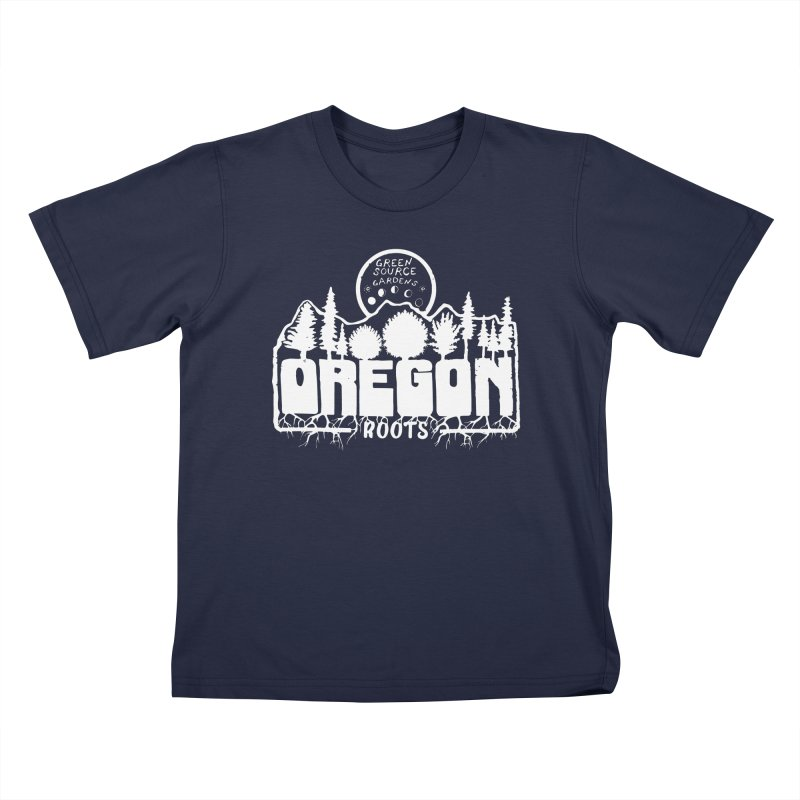 OREGON ROOTS in White Kids T-Shirt by Green Source Gardens