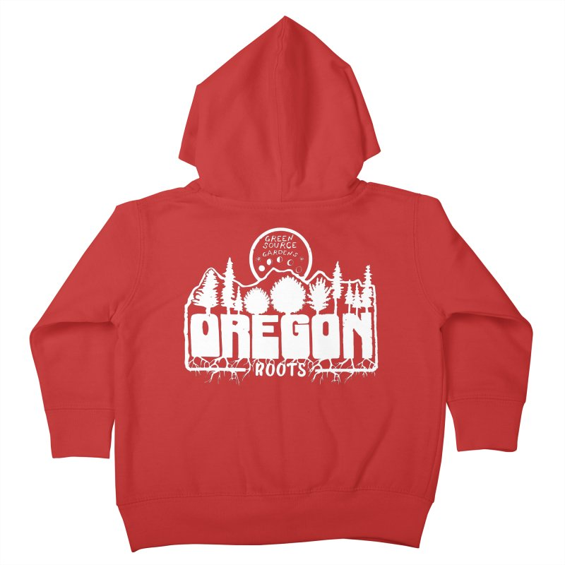 OREGON ROOTS in White Kids Toddler Zip-Up Hoody by Green Source Gardens