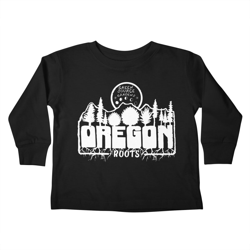 OREGON ROOTS in White Kids Toddler Longsleeve T-Shirt by Green Source Gardens