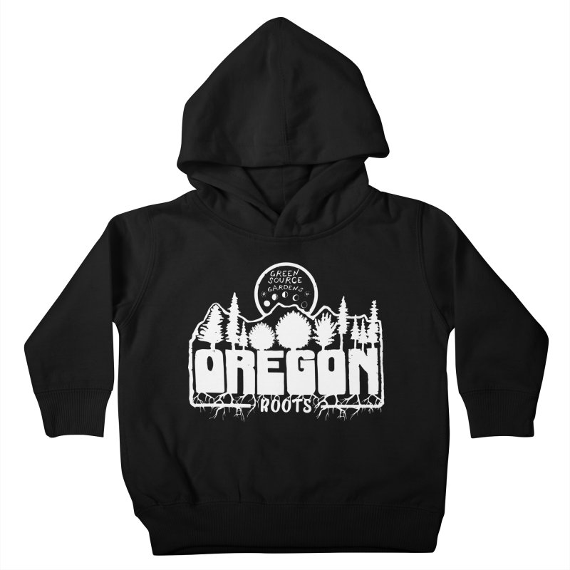 OREGON ROOTS in White Kids Toddler Pullover Hoody by Green Source Gardens