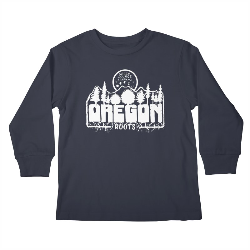 OREGON ROOTS in White Kids Longsleeve T-Shirt by Green Source Gardens