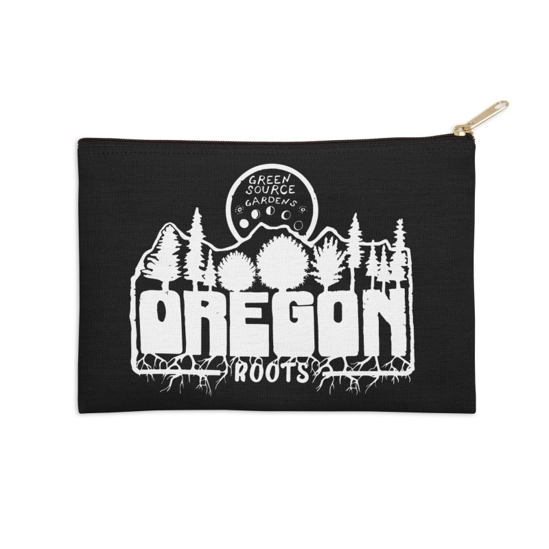 OREGON ROOTS in White Accessories Zip Pouch by Green Source Gardens