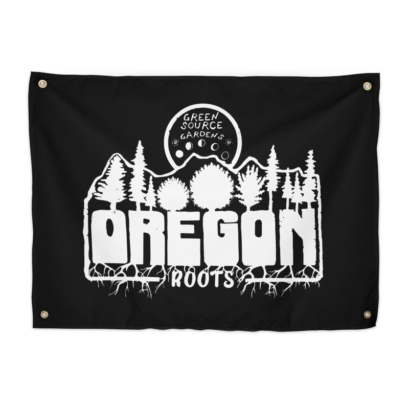 OREGON ROOTS in White Home Tapestry by Green Source Gardens