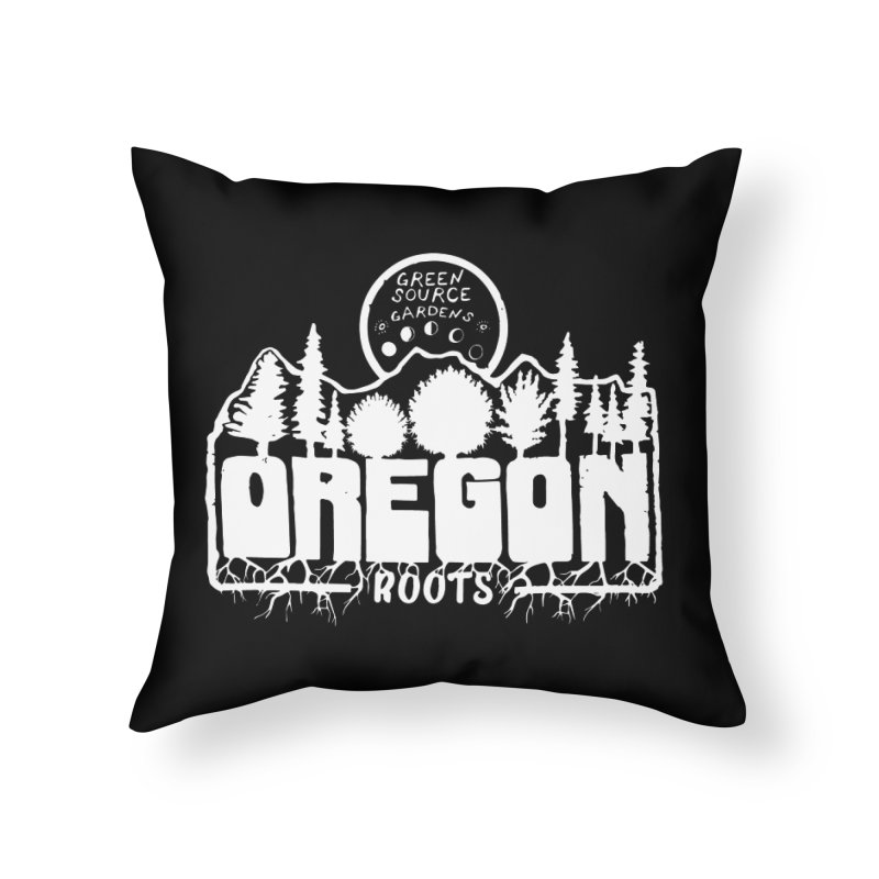 OREGON ROOTS in White Home Throw Pillow by Green Source Gardens