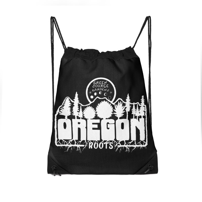 OREGON ROOTS in White Accessories Bag by Green Source Gardens