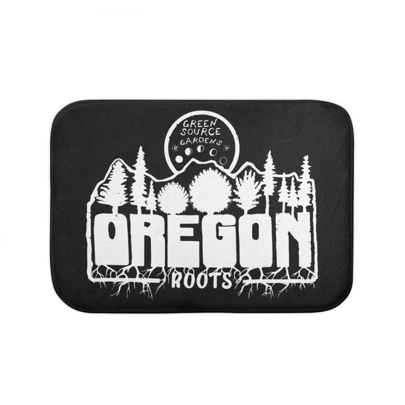 OREGON ROOTS in White Home Bath Mat by Green Source Gardens