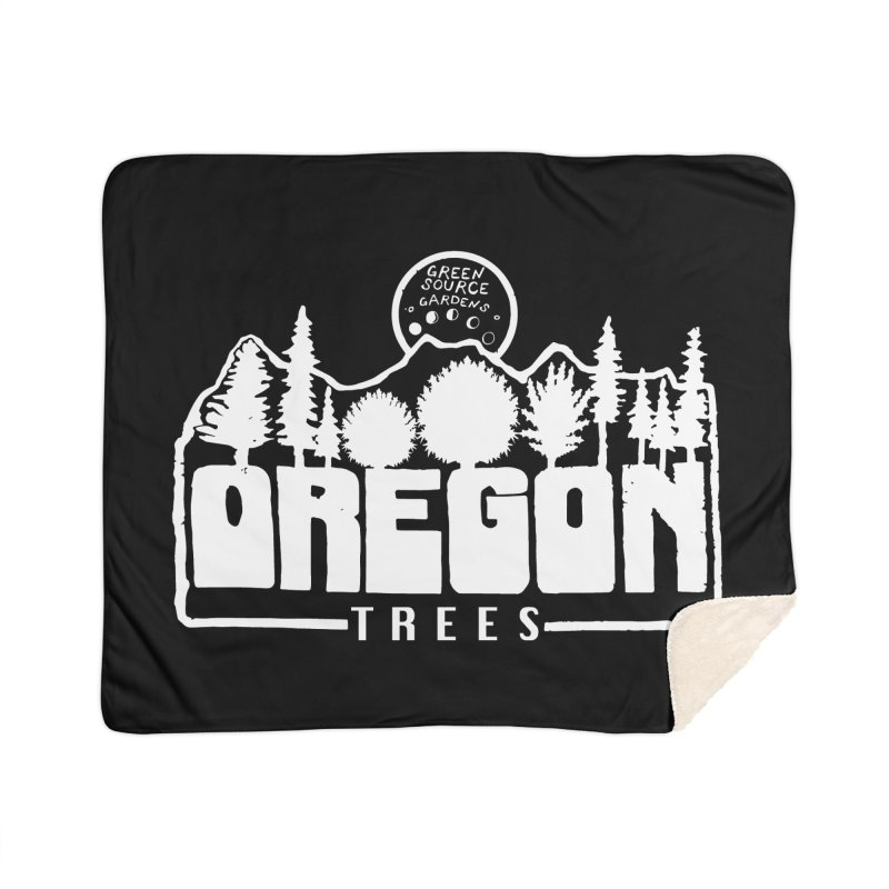 OREGON TREES TEE WHITE Home Blanket by Green Source Gardens