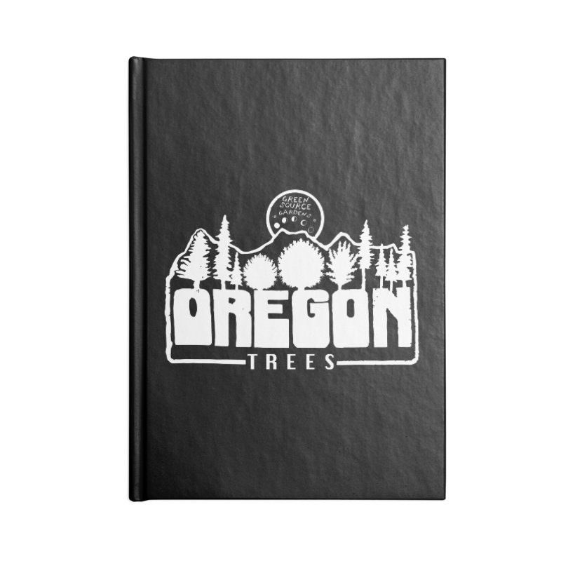 OREGON TREES TEE WHITE Accessories Notebook by Green Source Gardens