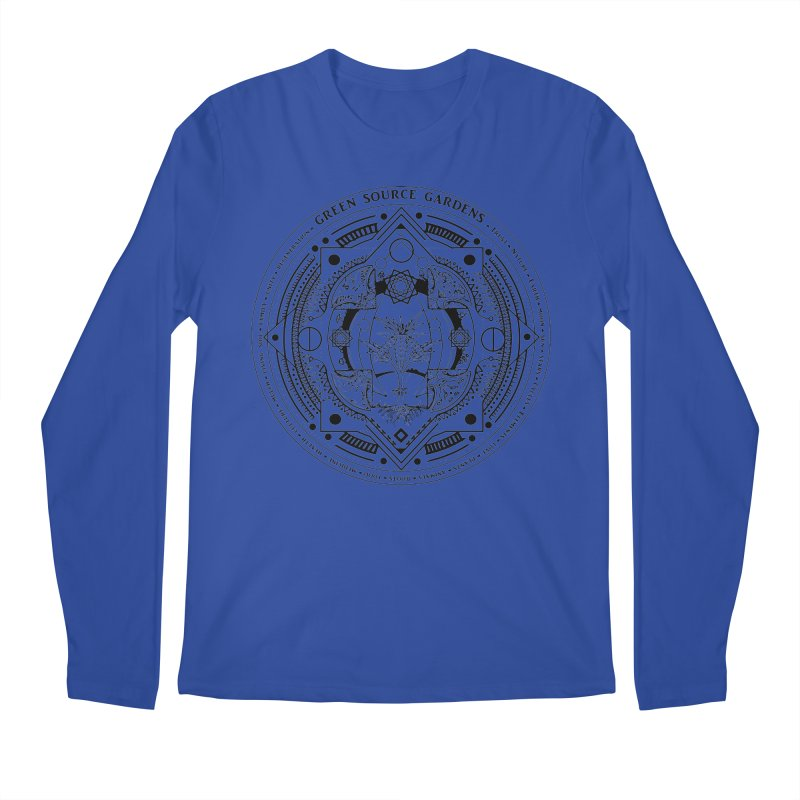 Canna Mandala (black ink) Men's Regular Longsleeve T-Shirt by Green Source Gardens
