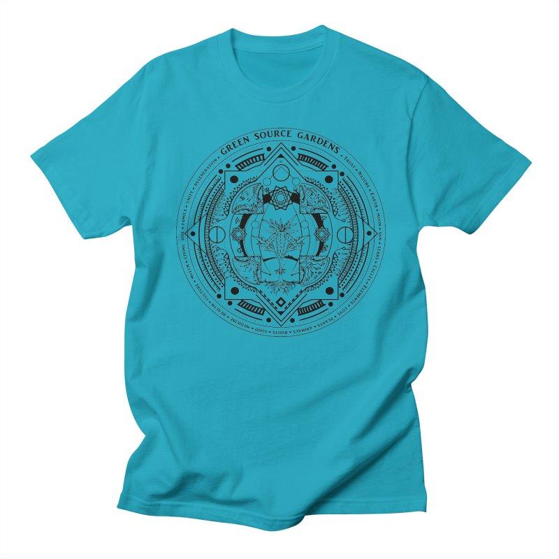 Canna Mandala Men's T-Shirt by Green Source Gardens
