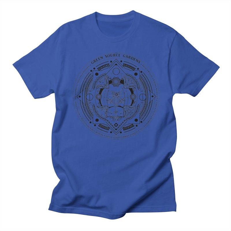 Canna Mandala (black ink) Women's Unisex T-Shirt by Green Source Gardens