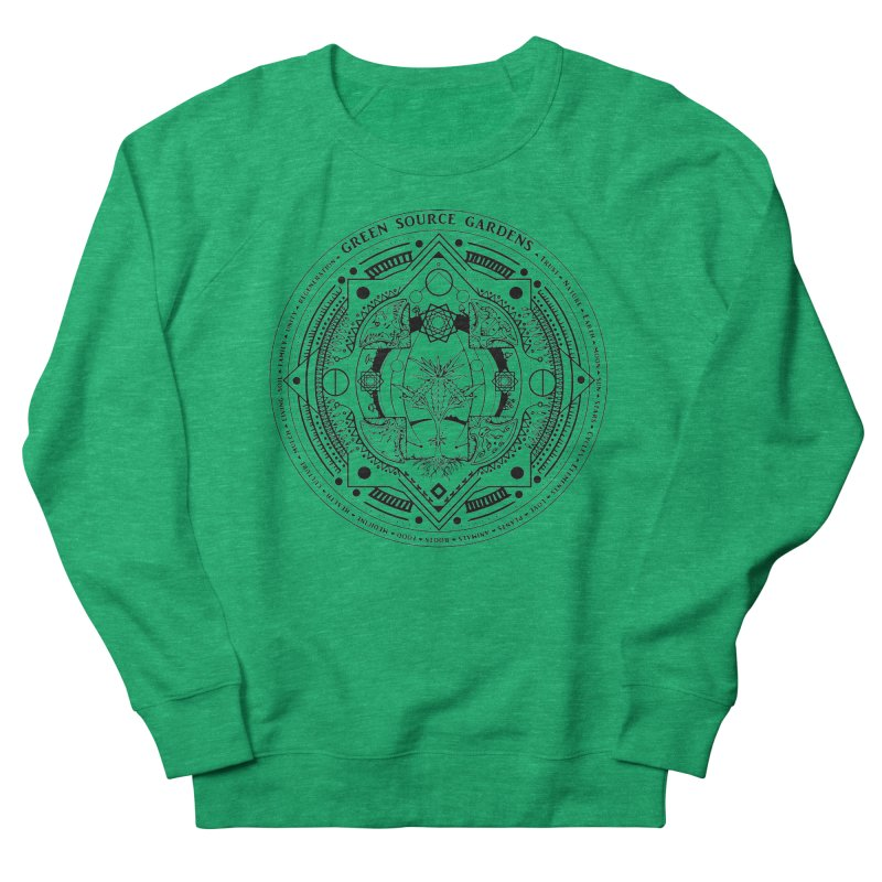 Canna Mandala (black ink) Women's French Terry Sweatshirt by Green Source Gardens