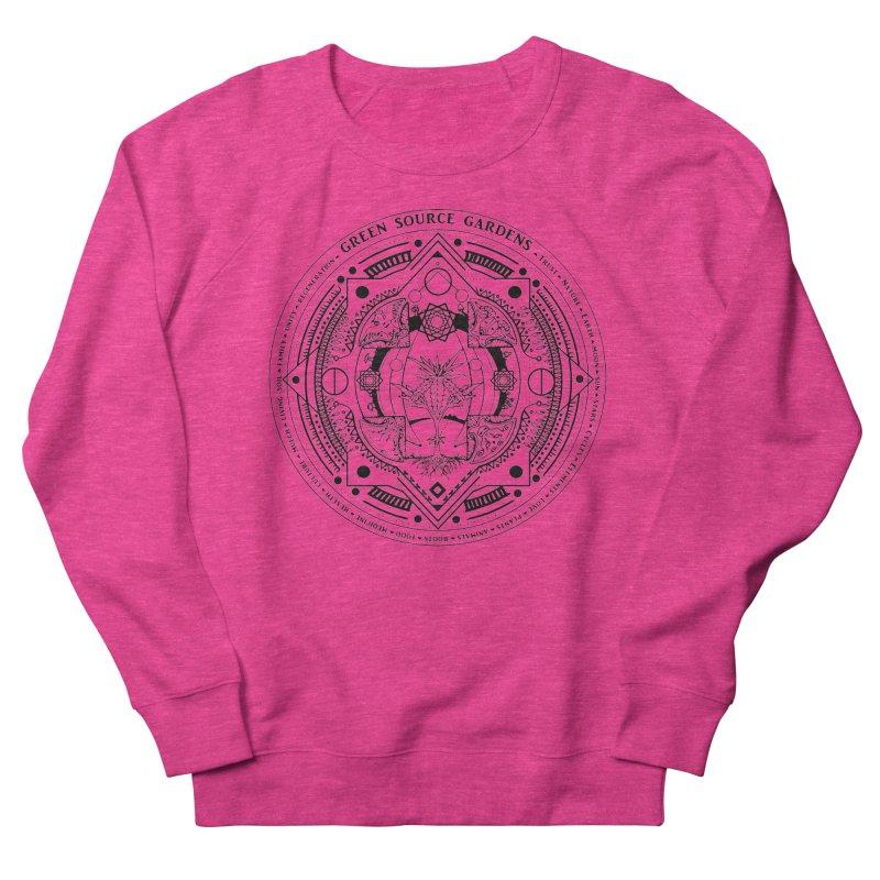Canna Mandala (black ink) Women's Sweatshirt by Green Source Gardens