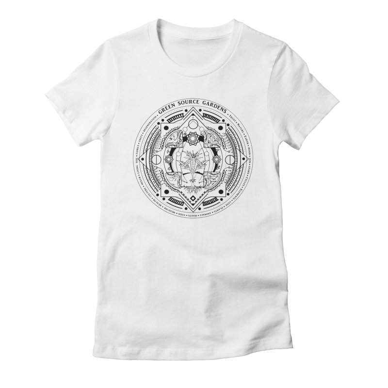 Canna Mandala Women's Fitted T-Shirt by Green Source Gardens