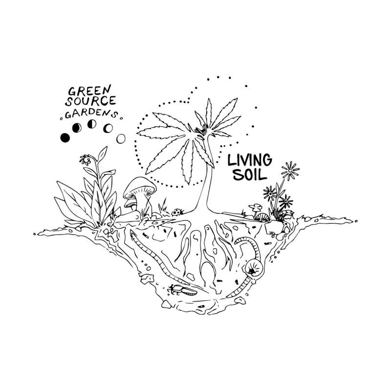 Living Soil (black ink) Women's Longsleeve T-Shirt by Green Source Gardens
