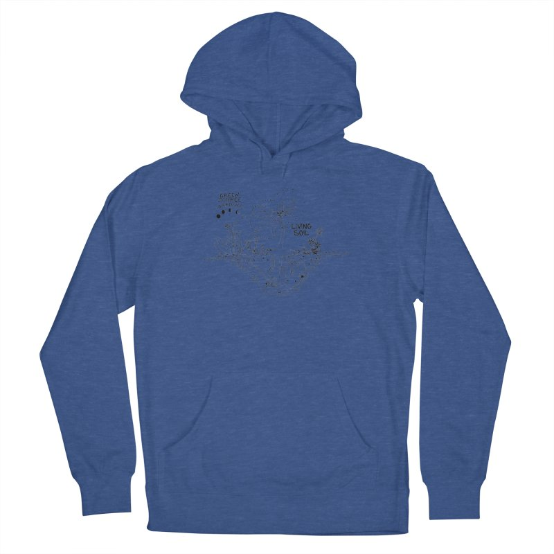 Living Soil (black ink) Men's Pullover Hoody by Green Source Gardens