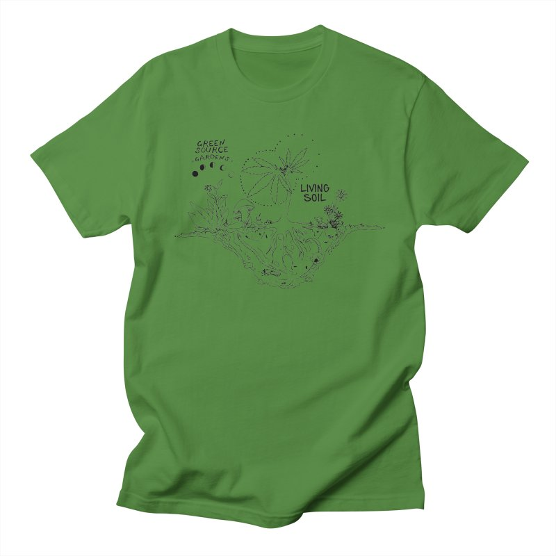 Living Soil (black ink) Women's Regular Unisex T-Shirt by Green Source Gardens