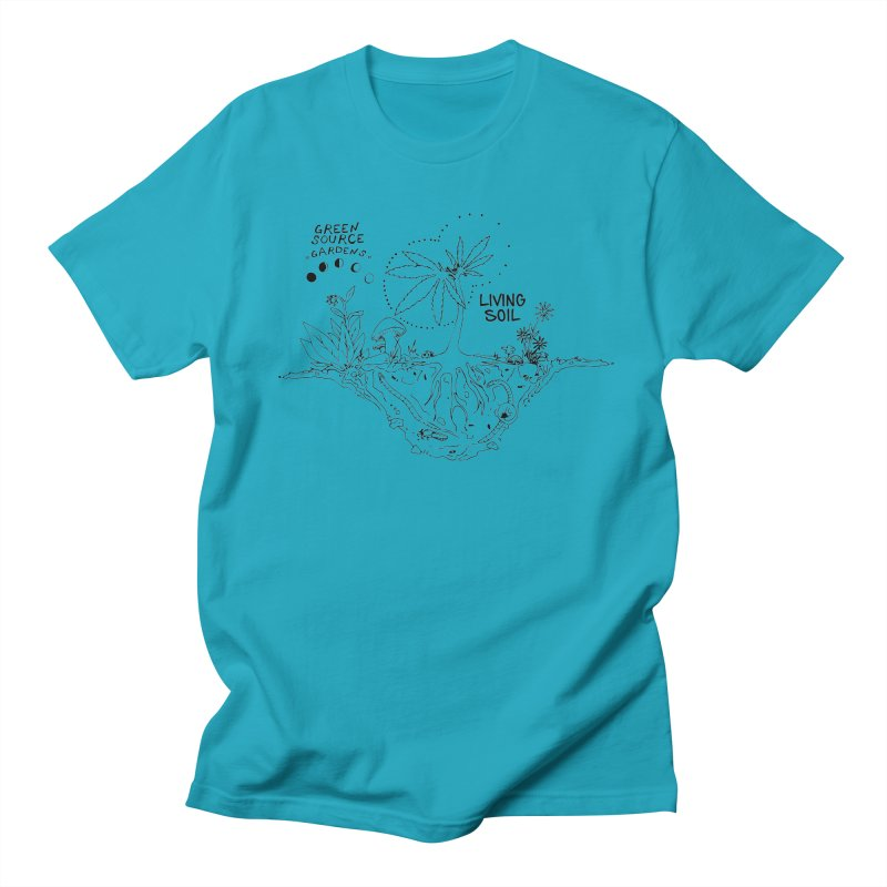 Living Soil (black ink) Men's T-Shirt by Green Source Gardens