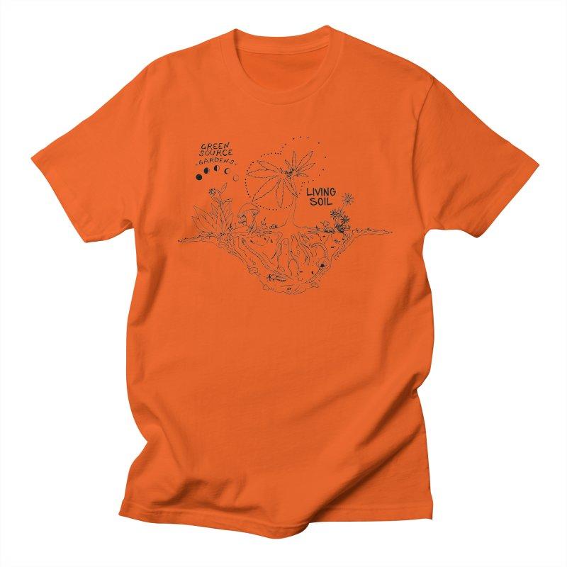 Living Soil (black ink) Men's Regular T-Shirt by Green Source Gardens