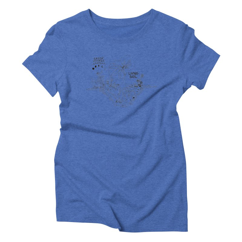 Living Soil (black ink) Women's Triblend T-Shirt by Green Source Gardens