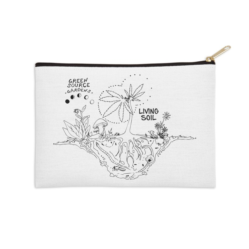 Living Soil (black ink) Accessories Zip Pouch by Green Source Gardens