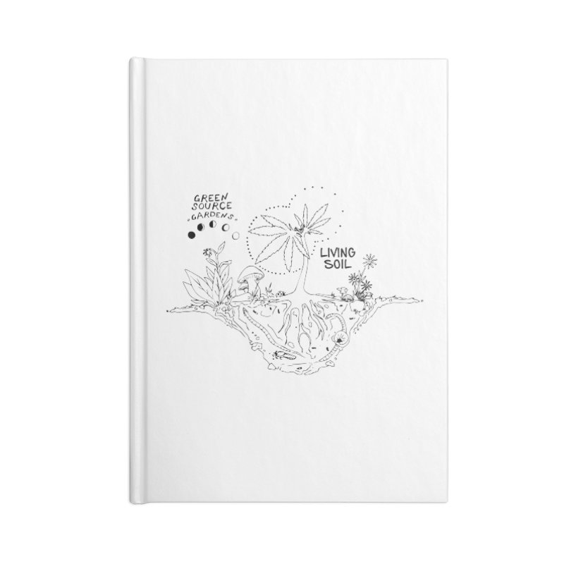 Living Soil (black ink) Accessories Notebook by Green Source Gardens